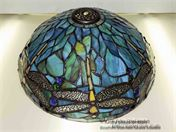 Stained Glass Dragonfly Lamp repair
